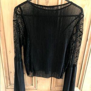 Zara Lace Black Crop Top